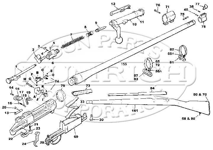 U.S. Military Rifles Springfield Models Springfield 1903A3 Parts List gun schematic