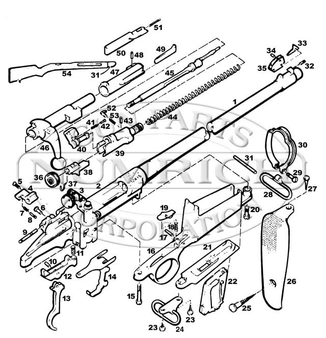 M2 Carbine Schematic Http Wwwgunpartscorpcom Products 542480bhtm
