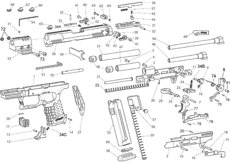 Walther P22 Parts