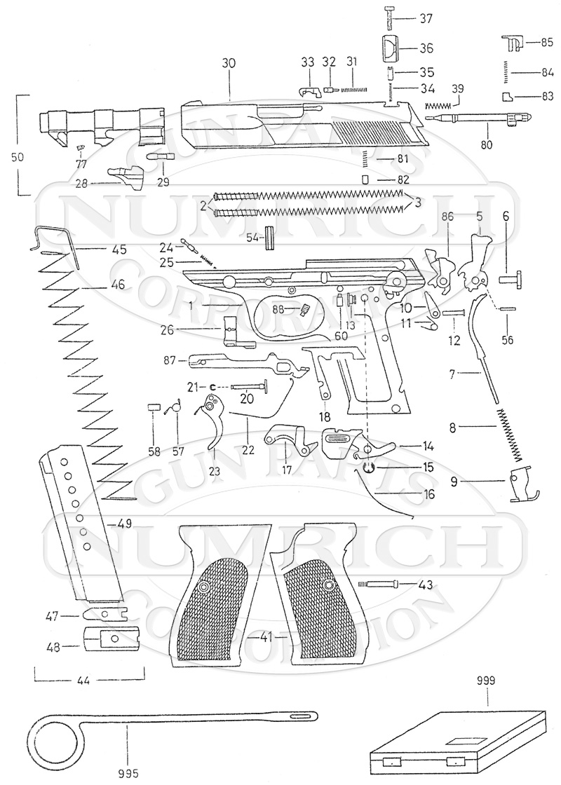 Springfield 1911 Breakdown Diagram Guide And Troubleshooting Of Fiat 126 Bis Wiring Kimber Parts Schematic Thompson Center 22 Citadel