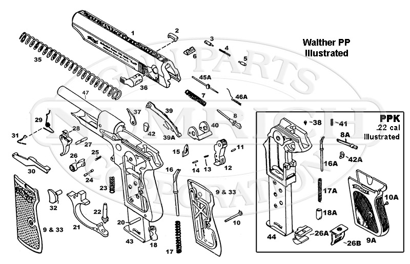 walther pp parts \u0026 schematic numrich gun parts Walther Trigger Bar Pictures