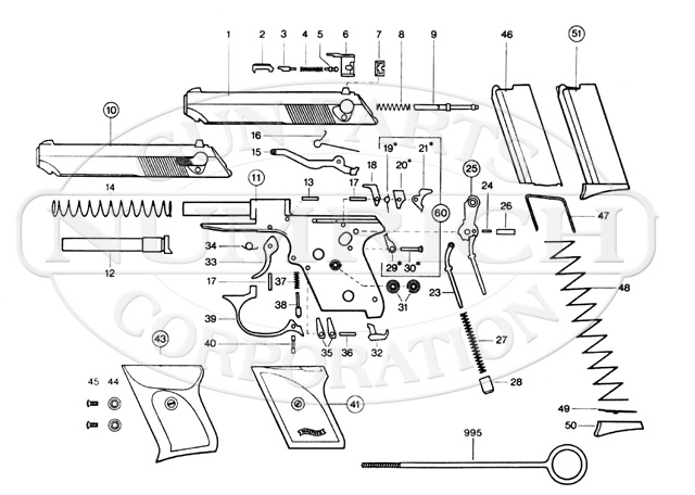 walther pp parts diagram all wiring diagram Walther Trigger Bar Pictures