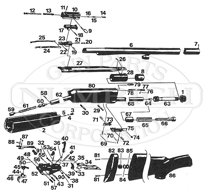 Weatherby Model 82 Schematic | Numrich