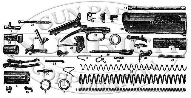 Winchester Shotguns 11 gun schematic
