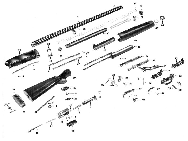 Sears Shotguns 273.4350 gun schematic