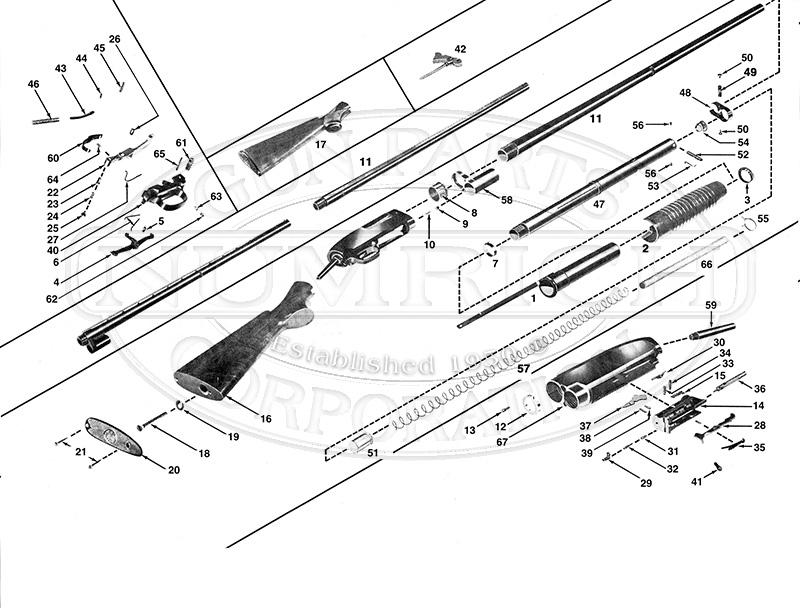 Winchester Shotguns 12 gun schematic