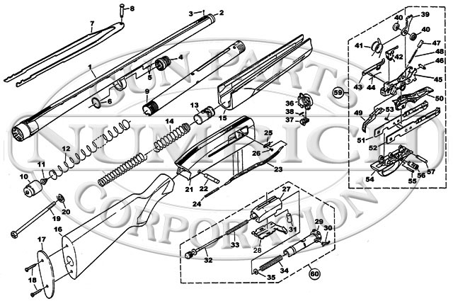 Winchester Shotguns 1400 Parts List gun schematic
