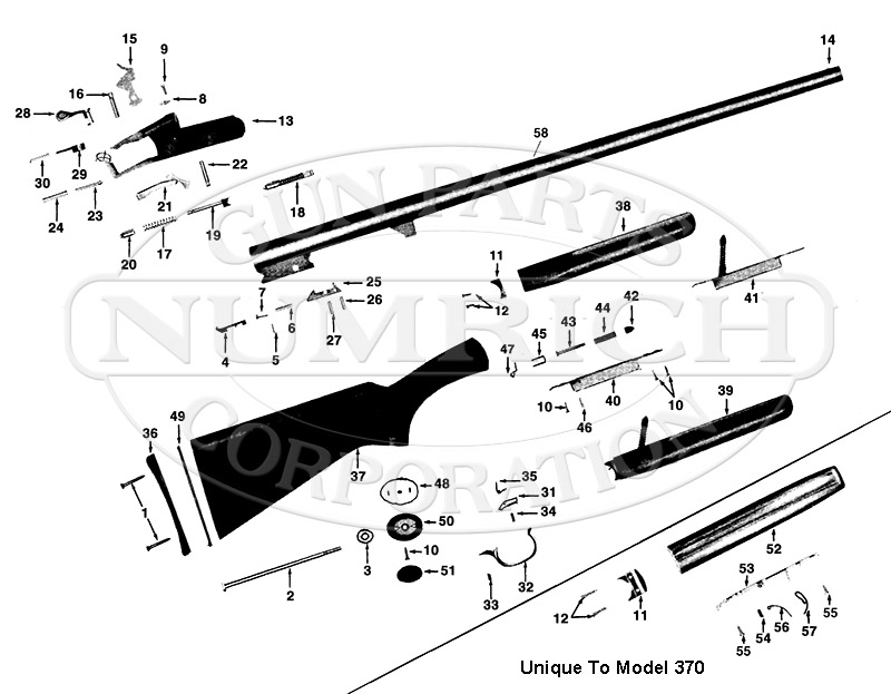 winchester model 370 parts