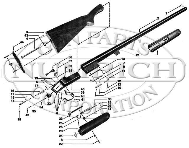 Winchester Shotguns 37 gun schematic