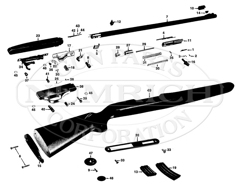 Winchester Rifles 490 gun schematic
