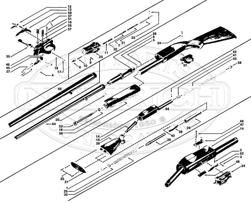 winchester model 12 parts diagram