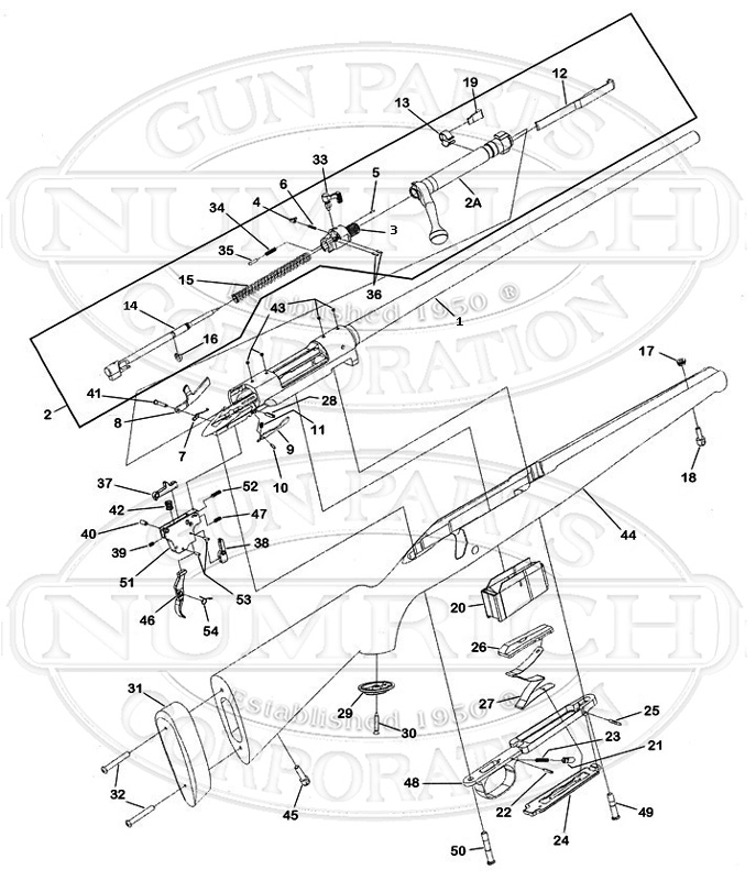 Winchester Model 70 Schematic | South Carolina Made Model 70