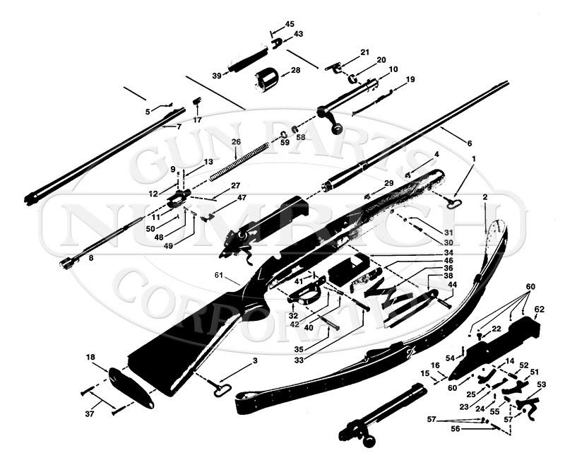 Winchester Rifles 70 Pre 64 Series 70 Pre 64 Featherweight gun schematic