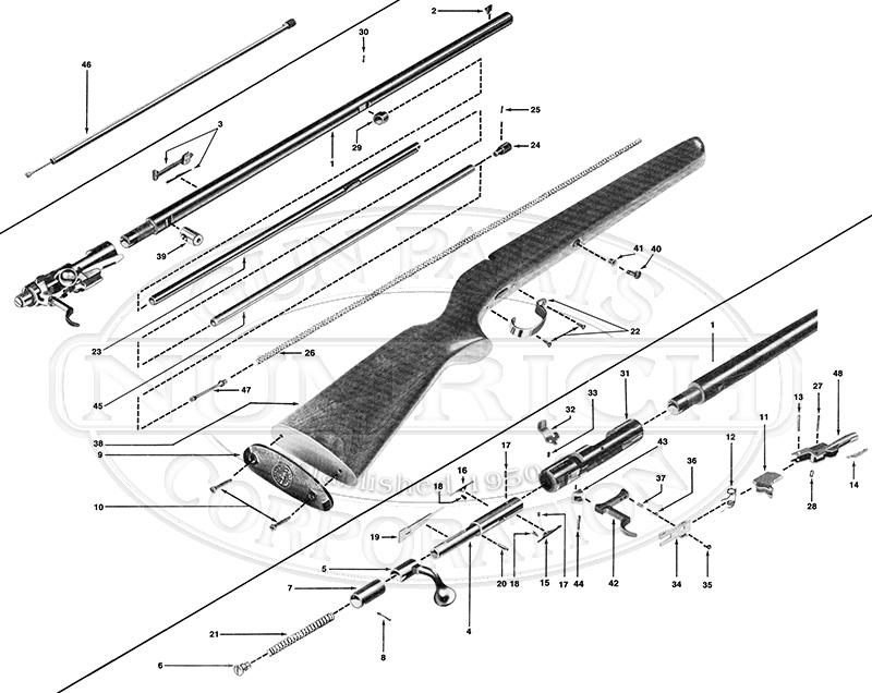 Winchester Rifles 72A gun schematic