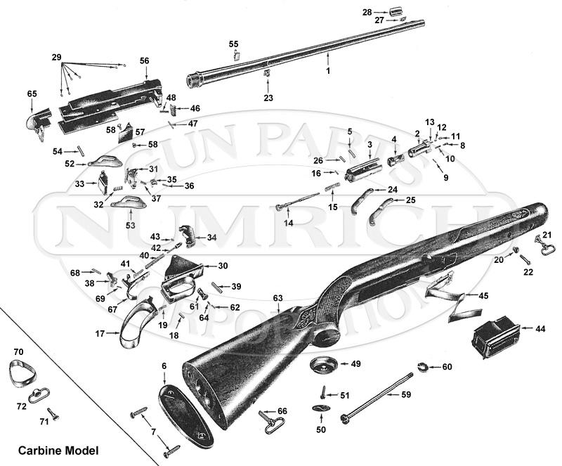 Winchester Rifles 88 gun schematic