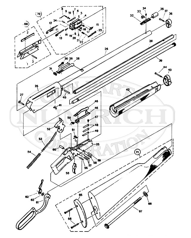 Winchester Rifles 94 Series 9417 gun schematic