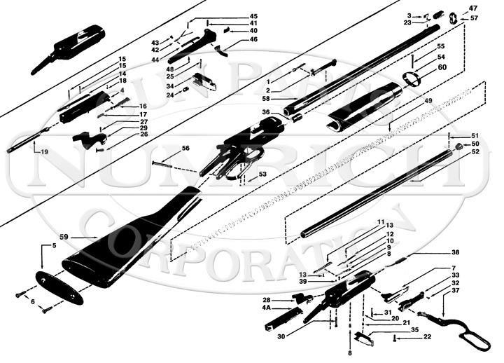 Pre 64 Winchester Model 94 Parts and Schematic | Numrich Gun Parts | Winchester Schematic |  | Numrich Gun Parts