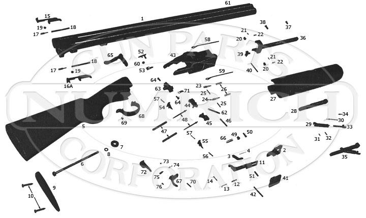 Winchester Shotguns 96 gun schematic