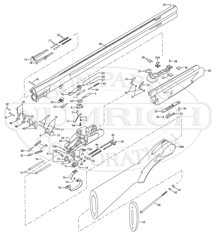 Winchester Shotguns 101 New Model gun schematic