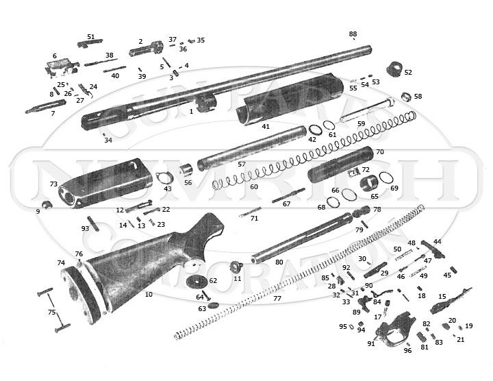 Winchester Shotguns Super X1 gun schematic