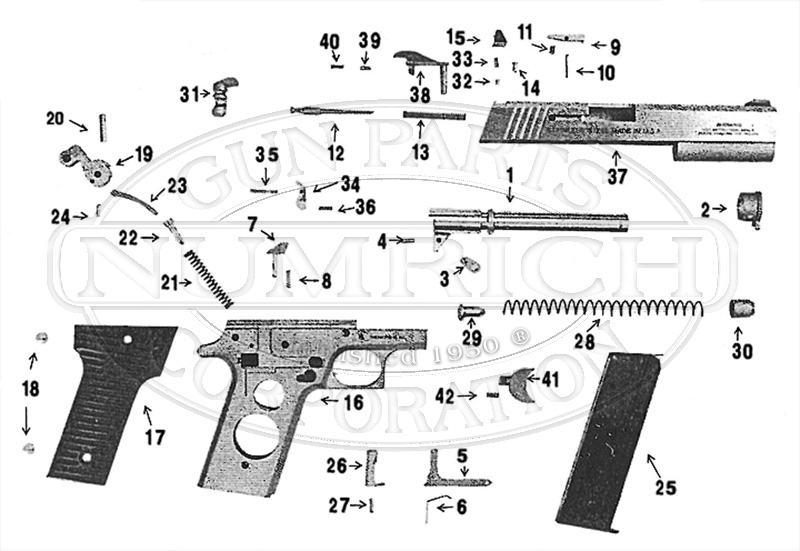 Wyoming Arms Parker 10mm gun schematic