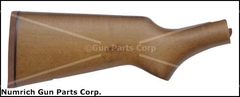 Stock, Hardwood, Pistol Grip, Rifle Pad, QD Swivel Stud Hole, Factory Orig.
