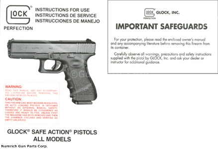 Instructional Manual Glock New English Italian Spanish Gun – Instructional Manual