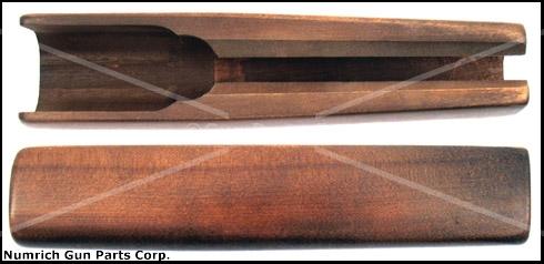 Forend, 12 & 20 Ga., 8-1/2'', Walnut Stained Hardwood, Plain