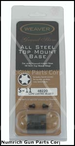 Scope Mount Base, Top, Rear, Weaver Grand Slam, All Steel