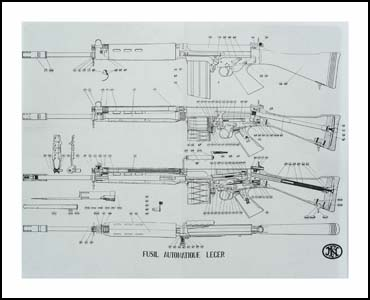 Exploded View Drawing, FN FAL Light Automatic Rifle Gun Parts ...