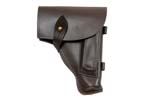 Holster, Leather, Brown to Reddish Brown, Russian 1970's, VG to Exc. Condition