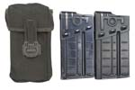 Magazine & Pouch Set, Incls Two 20 Rd., .308 Aluminum Magazines & 2-Pocket Pouch