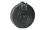 Drum Magazine, 9mm Parabellum, 71 Round, Blued, Finnish Mfg, Used Good to VG