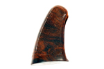 Grip, 1 Piece, Checkered Plastic, Brown, New