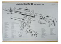 "G3 Sub Assembly Mechanism Chart, English (B/W, 37"" High x 47-1/2"" Wide)"