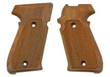 Grips, Checkered Walnut, American Models w/ Side Magazine Catch