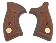 Grips, Manurhin F1 Police Revolver, Checkered Walnut w/ Manurhin Medallions
