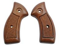Grips, Checkered Walnut, Less Medallions & Escutcheons, Std. Contour, Orig., New