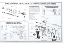 "Partial Exploded View & Parts List (B/W; 22"" x 34"")"