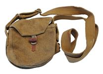 Used, Pouch w/ Barrel & Loop Closure, Khaki (w/Side Accessory Pouch)