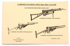 Manual, Sten Machine Carbines 9mm Mks I, II & III, Soft Cover, B/W, 23 pages