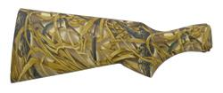 Stock, 12 Ga Less Rifle Pad, Synthetic, Advantage Wetlands Camo, Checkered