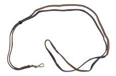 Lanyard Strap, Black Leather w/Sliding Loop & Swivel Snap Hook, OAL 45