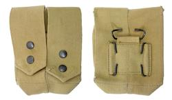 Dual Grenade Pouch, Khaki Canvas, Israeli Military, Unissued