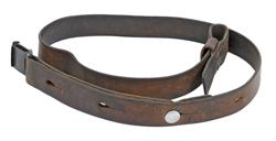 "Sling, 1-1/8"", Leather w/ Swiss Markings, Original, Used Fair to Good"