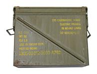 Ammo Can, 20mm - Olive Drab Steel w/ Double Latched Lid & 2 Carrying Handles.