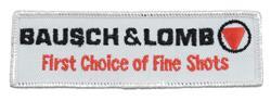 Garment Patch, Bausch & Lomb First Choice , 4-5/8