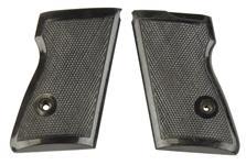Grips, Black Plastic w/ Escutcheons, w/o Thumbrest, Fit R61/PMK/RK59/PPH/SMC-380/PPR61