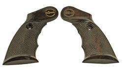 Grips, Brown Plastic w/ Finger Groove & Thumbrest