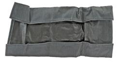 Cleaning Kit Roll Pouch, East German, Gray Rubberized Fabric, Unissued